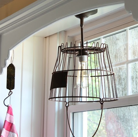 How to Make a Pendant Light From an Old Rusty Egg BasketHome Love ...