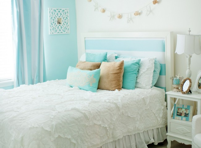 I Have To Say That Was Pleasantly Surprised And Thought Her Room Turned Out Beautiful She Wanted A White Tiffany Blue