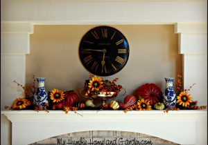 How To Create A Beautiful Autumnal Mantel Display on MyHumbleHomeandGarden.com