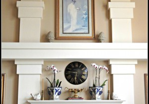 Spring Mantel Makeover on MyHumbleHomeandGarden.com